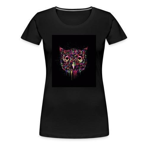 Colorful Owl Womans Shirt - Women's Premium T-Shirt