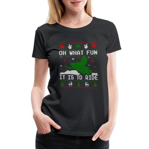 Oh What Fun Snowmobile Ugly Sweater style - Women's Premium T-Shirt