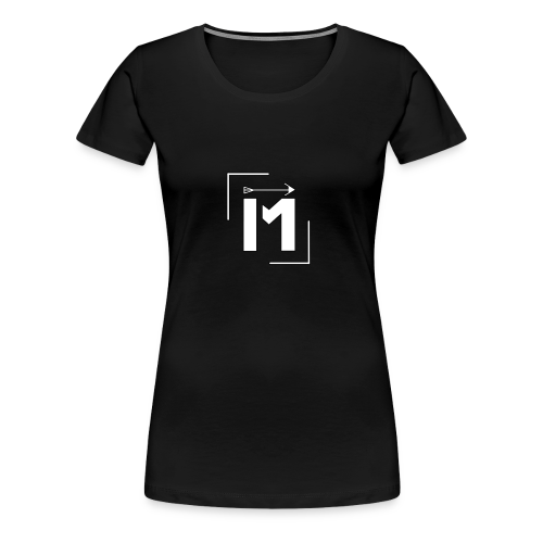 MADE white BrstPKT emblem - Women's Premium T-Shirt