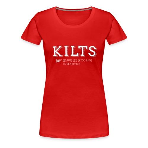 kilts white - Women's Premium T-Shirt