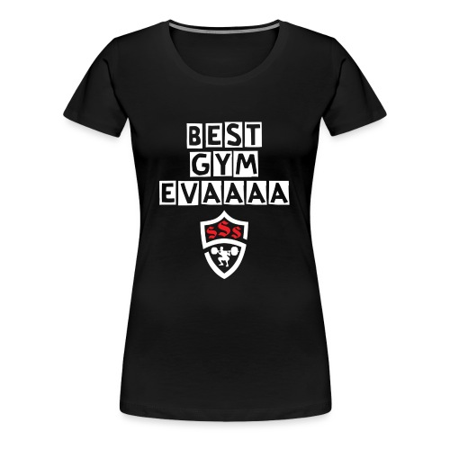 Best Gym Evaaa White and Red - Women's Premium T-Shirt