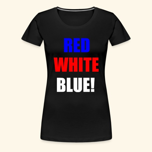 red white blue OCD - Women's Premium T-Shirt