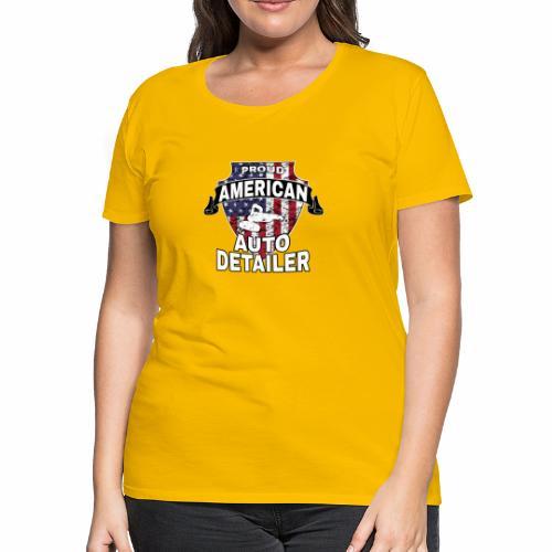 AMERICAN AUTO DETAILER SHIRT | CAR DETAILING - Women's Premium T-Shirt