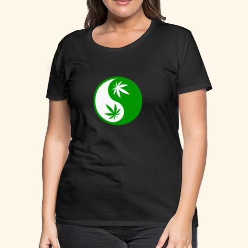 Ying Yang Cannabis - Weed Ying Hanf Yang - Design - Women's Premium T-Shirt