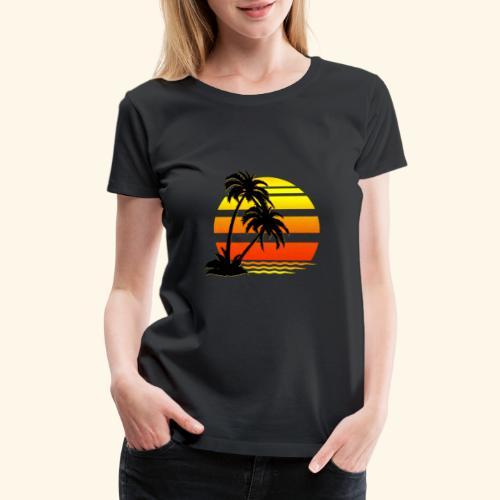 Summer Surfer California Sunset - Women's Premium T-Shirt