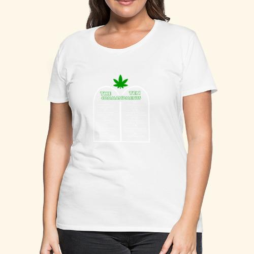 The Ten Commandments of cannabis - Women's Premium T-Shirt