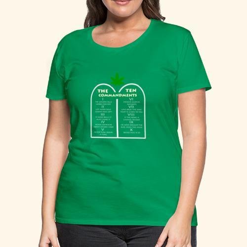 The Ten Commandments of cannabis - Women's Premium T-Shirt