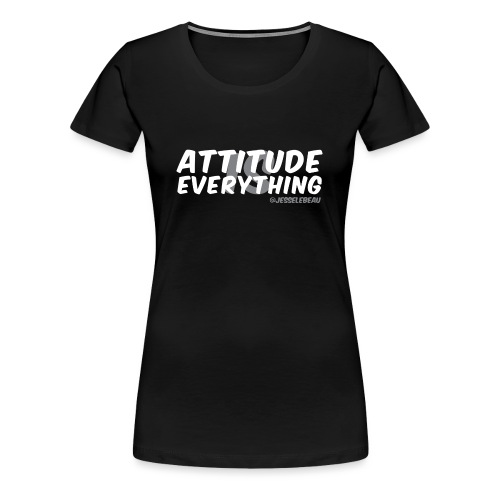 AIE Attitude Overlay White - Women's Premium T-Shirt