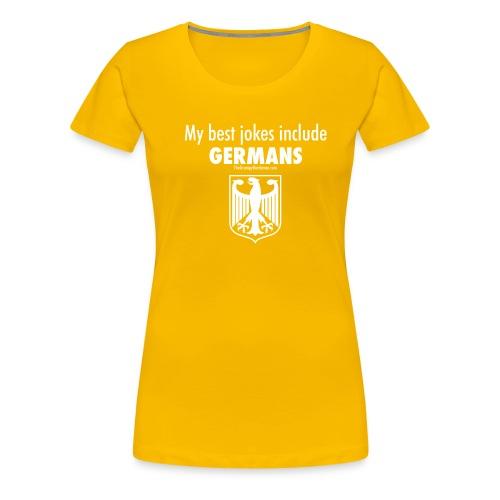 17 Germans white lettering - Women's Premium T-Shirt
