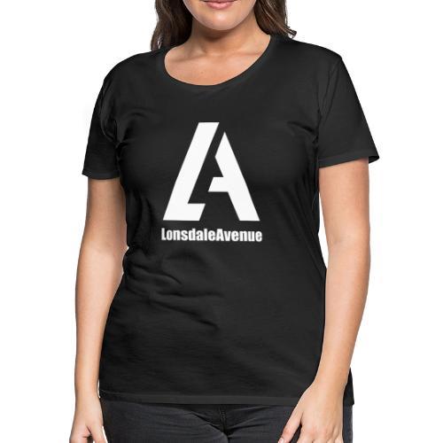 Lonsdale Avenue Logo White Text - Women's Premium T-Shirt