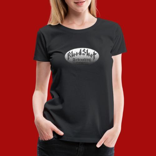 BloodShot Airbrushing Logo - Women's Premium T-Shirt