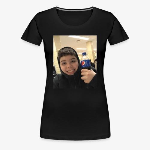 Sotiri with Pepsi Bottle smiling - Women's Premium T-Shirt