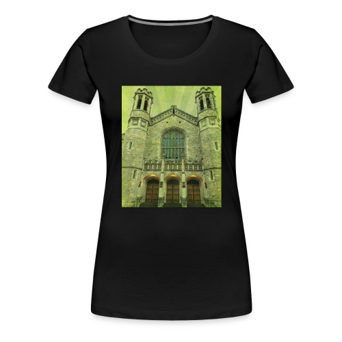 Green gothic cathedral - Women's Premium T-Shirt