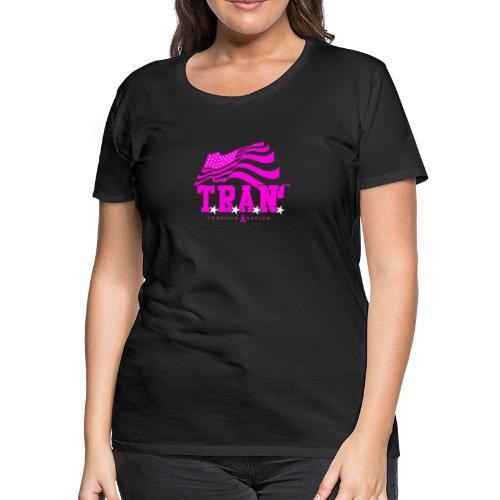 TRAN Ribbon Logo 4 - Women's Premium T-Shirt