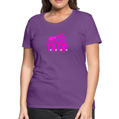 TRAN Ribbon Logo 4 - Women's Premium T-Shirt
