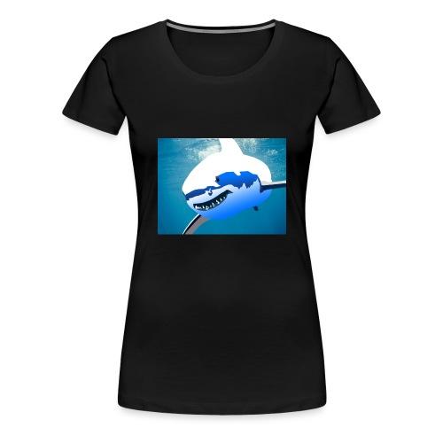 Super Lit Shark Drawing by Adam Tennant - Women's Premium T-Shirt