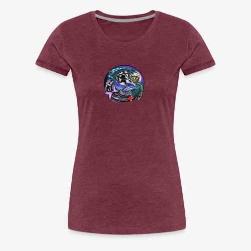 Mother CreepyPasta Nursery Rhyme Circle Design - Women's Premium T-Shirt