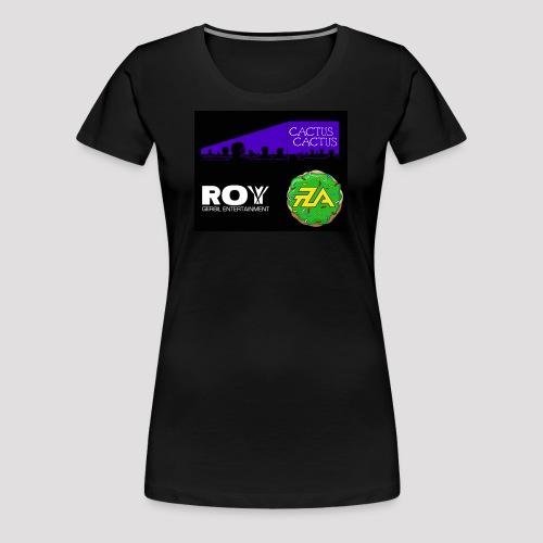 A_Cactus_Purple - Women's Premium T-Shirt