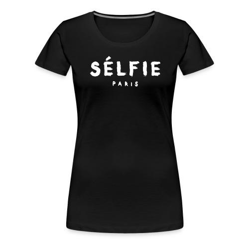 selfie wht - Women's Premium T-Shirt