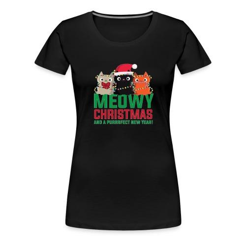 Meowy Christmas - Women's Premium T-Shirt