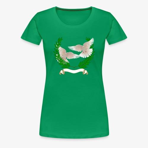 OLIVE BRANCH DOVES - Women's Premium T-Shirt