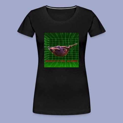 monkey in the matrics - Women's Premium T-Shirt