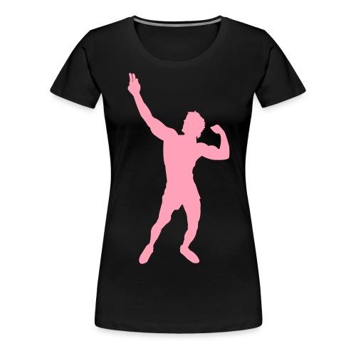 Zyzz Silhouette vector - Women's Premium T-Shirt