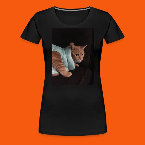 Trendy Orange Cat - Women's Premium T-Shirt