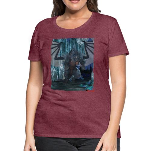 Wyldesigns: Ice Dragon In Crystal Cave - Women's Premium T-Shirt
