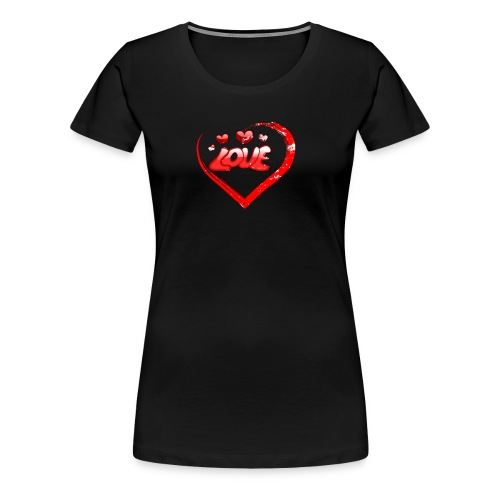 Red Love Heart Valentine Shirt Distressed Gifts - Women's Premium T-Shirt