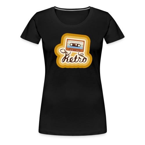 Retro-Cassette - Women's Premium T-Shirt