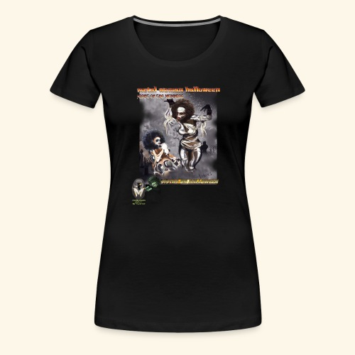 MUMMY SISTAS ON HALLOWEEN - Women's Premium T-Shirt