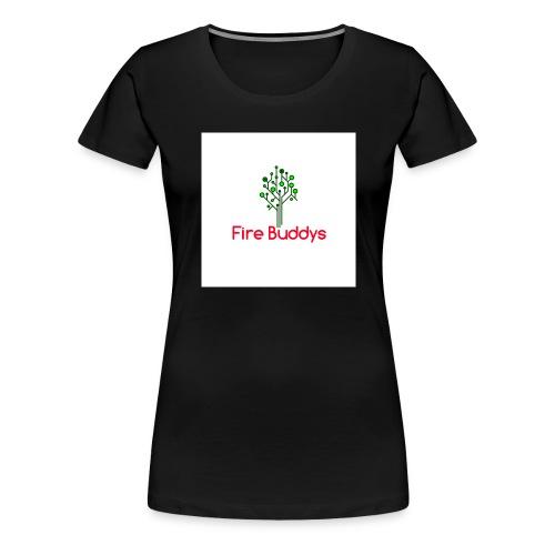 Fire Buddys Website Logo White Tee-shirt eco - Women's Premium T-Shirt