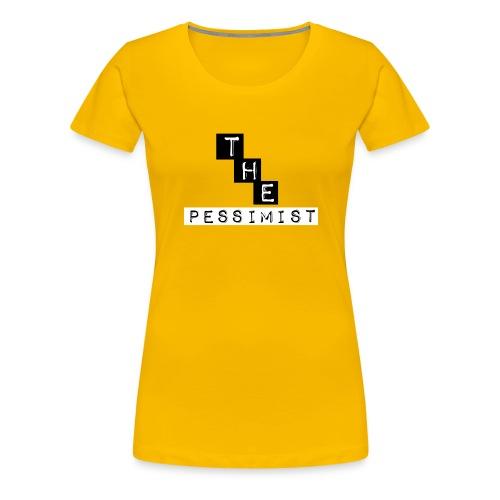 The pessimist Abstract Design - Women's Premium T-Shirt