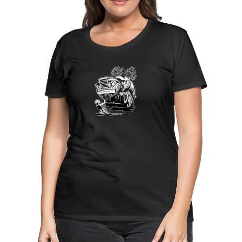 Cement Truck Mixer Cartoon - Women's Premium T-Shirt