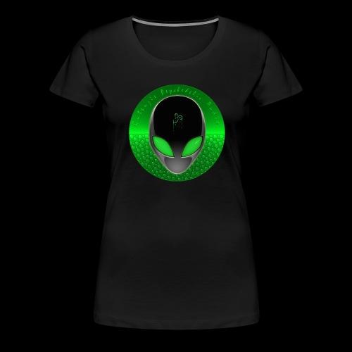 Psychedelic Alien Dolphin Green Cetacean Inspired - Women's Premium T-Shirt