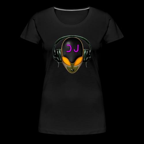 Alien DJ - Orange - Hard Shell Bug - Women's Premium T-Shirt