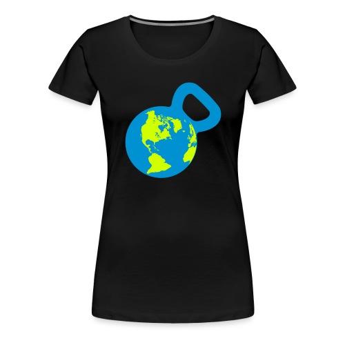It's a Kettlebell World - Women's Premium T-Shirt