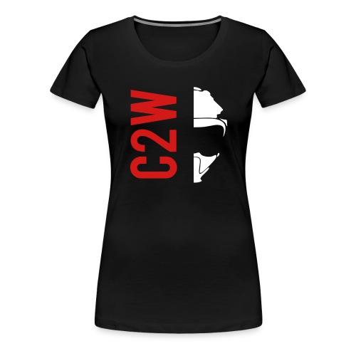 ChaseOnTwoWheels Split Logo - Women's Premium T-Shirt