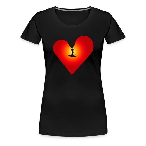 Loving heart - Women's Premium T-Shirt