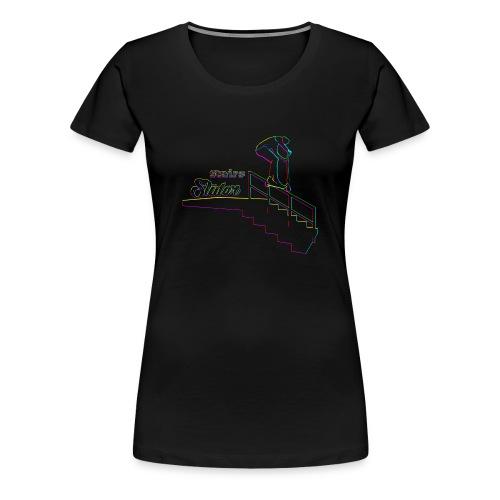 Stairs Sliders Techno - Women's Premium T-Shirt
