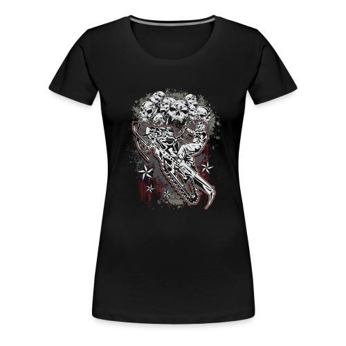 Snowmobile Skull Bunch - Women's Premium T-Shirt