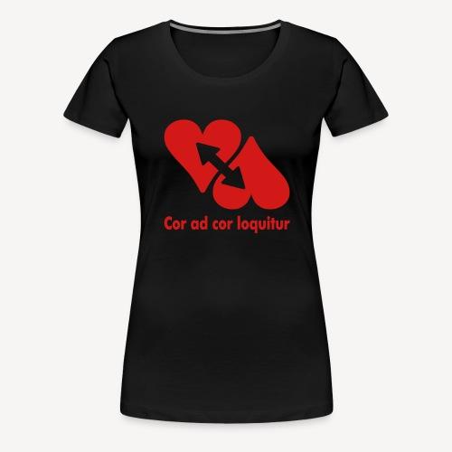 COR AD COR LOQUITUR - Women's Premium T-Shirt