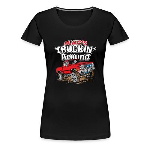 Chevy Truckin Around Red - Women's Premium T-Shirt