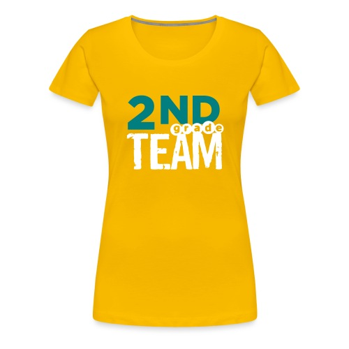 Bold 2nd Grade Team Teacher T Shirts - Women's Premium T-Shirt