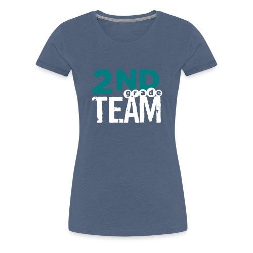 Bold 2nd Grade Team Teacher T Shirts - Women's Premium T-Shirt