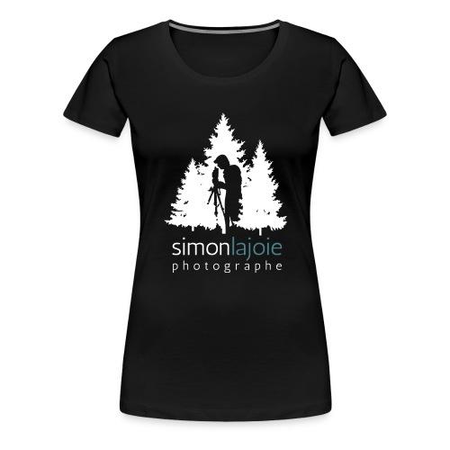 Logo Simon Lajoie Photographer White - Women's Premium T-Shirt