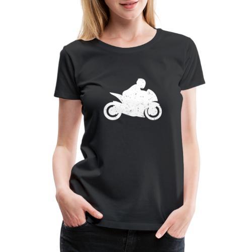 Super Sport Bike Motorcycle Rider Distressed - Women's Premium T-Shirt