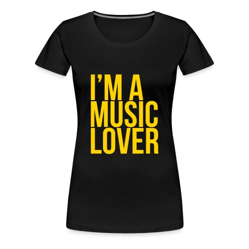 Music Lover big - Women's Premium T-Shirt