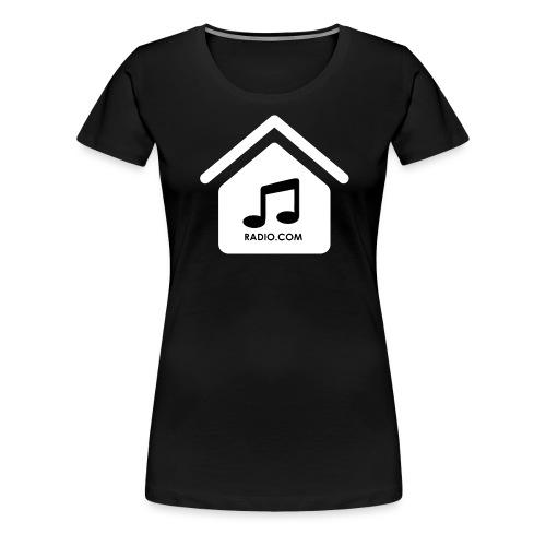 House Music Radio White black font no out line.png - Women's Premium T-Shirt